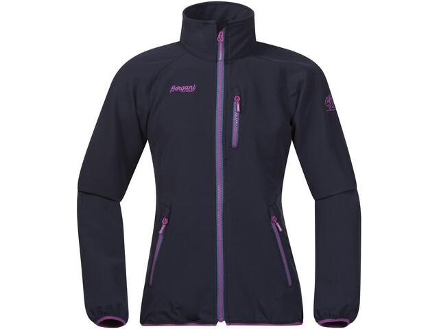 Bergans Kjerag Jacket Girls navy/steel blue/pink rose
